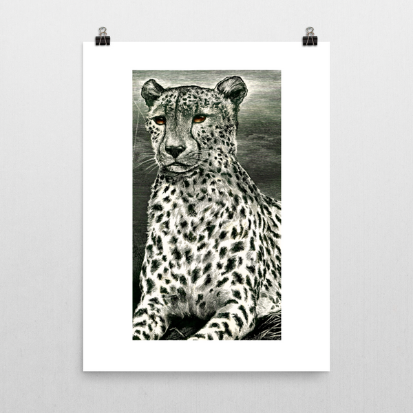 Cheetah Unframed Art Print