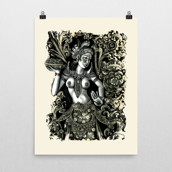 Balinese Dancer Unframed Art Printed