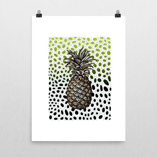 Pineapple Lapis Unframed Art Print
