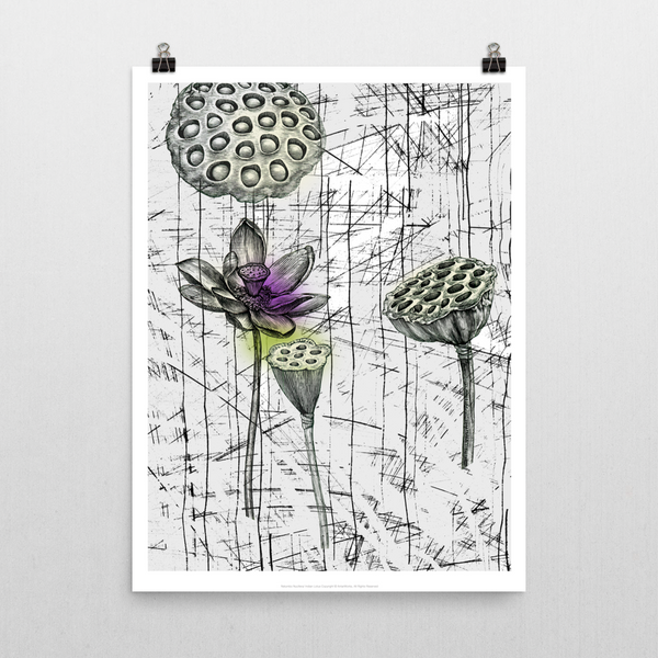 Indian Lotus Unframed Print