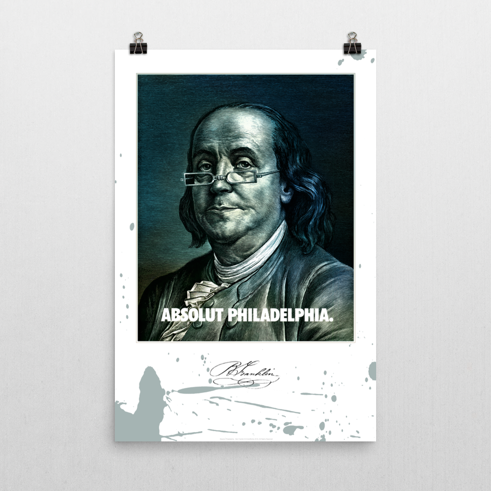 Absolut Ben Franklin Unframed Art Print