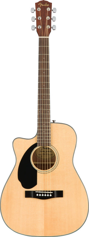 Fender CC-60SCE Concert Left Handed Acoustic Guitar w/Cutaway & Electronics, Natural
