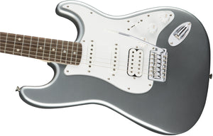 Squier Affinity Series HSS Stratocaster Electric Guitar, Laurel Fb, Slick Silver 370700581
