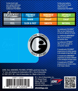 ELIXIR 12050 POLYWEB ELECTRIC GUITAR STRINGS 10-46 | Zoso Music