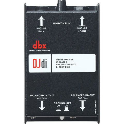 DBX DJDI 2-CHANNEL PASSIVE DIRECT BOX | Zoso Music