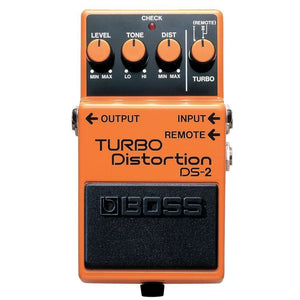 BOSS DS-2 TURBO DISTORTION PEDAL (DS2 / DS 2) | Zoso Music