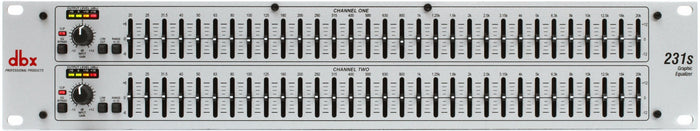 DBX 231S DUAL CHANNEL 31-BAND STEREO EQUALIZER