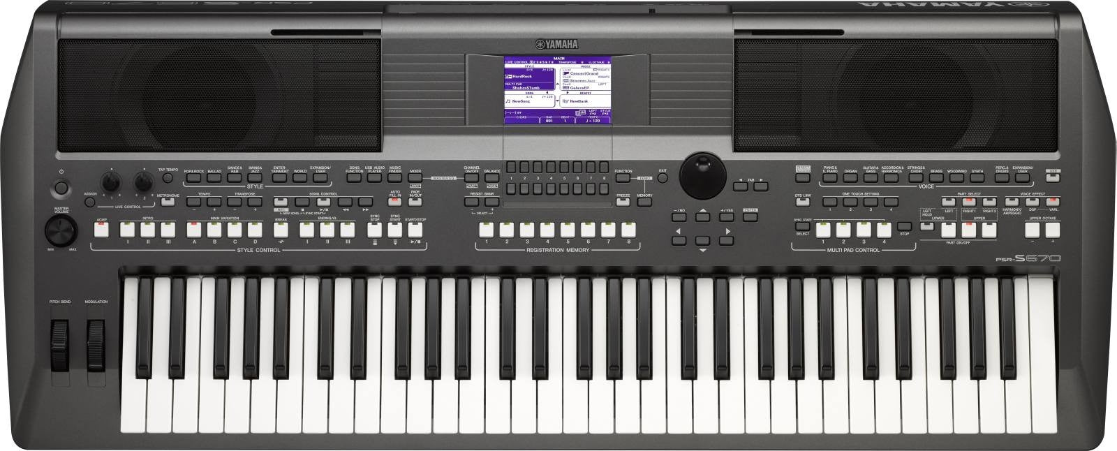 Yamaha Psr S670 61 Key Arranger Workstation S970