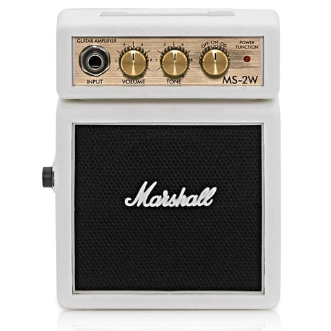 MARSHALL MS2 MICRO AMP WHITE MARMS2W | Zoso Music
