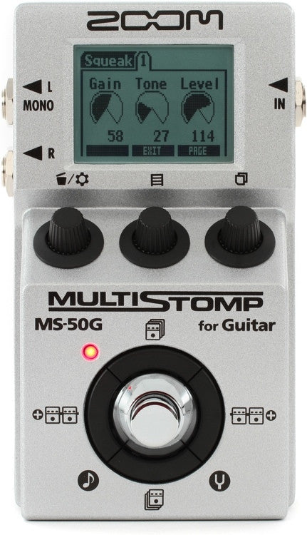 ZOOM MS-50G MULTISTOMP GUITAR PEDAL | Zoso Music