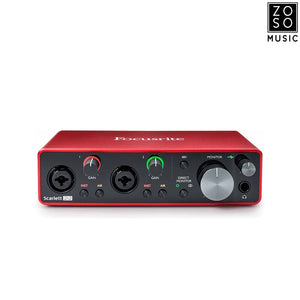 FOCUSRITE SCARLETT 2i2 3RD GEN USB AUDIO INTERFACE | Zoso Music