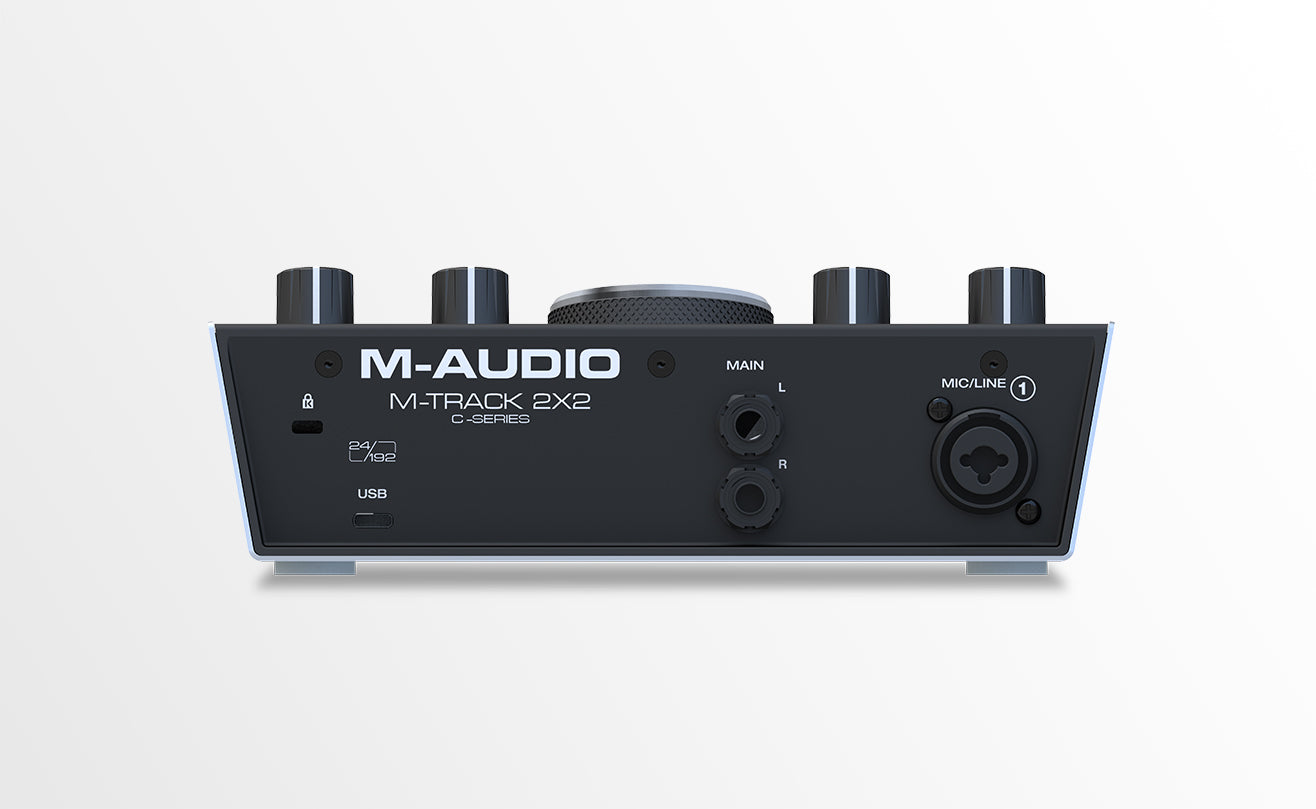M-AUDIO M-TRACK 2X2 TWO CHANNEL USB INTERFACE WITH 24-BIT/192KHZ RESOLUTION