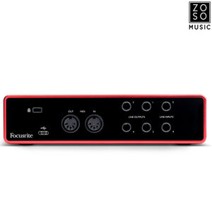 FOCUSRITE SCARLETT 4i4 3RD GEN USB RECORDING INTERFACE | Zoso Music