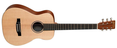MARTIN LX1E LITTLE MARTIN ACOUSTIC GUITAR, FISHMAN ISYS T WITH TUNER AND PADDED GIG BAG | Zoso Music