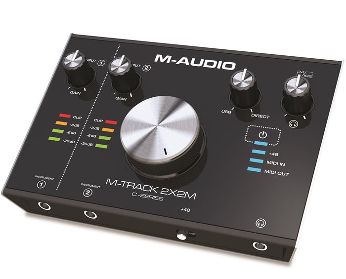 M-AUDIO M-TRACK 2X2M C-SERIES | 2-IN/2-OUT USB AUDIO INTERFACE WITH MIDI (24-BIT/192KHZ)
