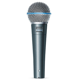 SHURE BETA 58A SUPERCARDIOID DYNAMIC MICROPHONE WITH HIGH OUTPUT NEODYMIUM ELEMENT FOR VOCAL/INSTRUMENT APPLICATIONS | Zoso Music
