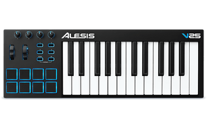 ALESIS V25 25-KEY USB MIDI KEYBOARD & DRUM PAD CONTROLLER | Zoso Music