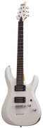 SCHECTER C-6 DELUXE ELECTRIC GUITAR - SATIN WHITE (432) MADE IN INDONESIA