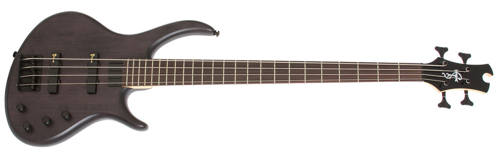 EPIPHONE TOBY DELUXE - IV 4 STRING BASS GUITAR, SATIN TRANSLUCENT BLACK | Zoso Music