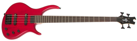 EPIPHONE TOBY DELUXE - IV 4 STRING BASS GUITAR, SATIN TRANSLUCENT RED | Zoso Music