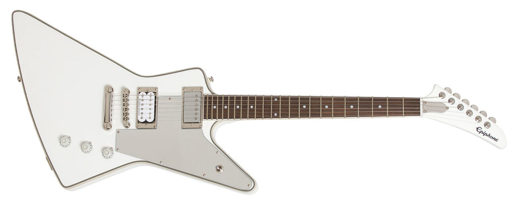 EPIPHONE LTD ED TOMMY THAYER WHITE LIGHTNING EXPLORER OUTFIT ELECTRIC GUITAR | Zoso Music