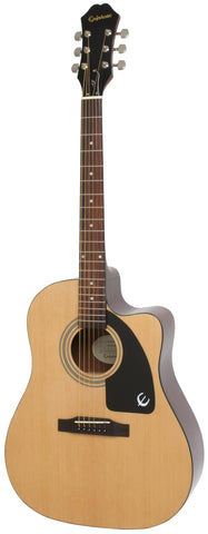 EPIPHONE AJ-100CE ACOUSTIC ELECTRIC GUITAR, ROSEWOOD NECK, NATURAL (AJ 100CE / AJ100CE) | Zoso Music