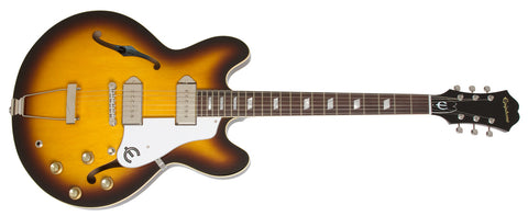 EPIPHONE ELITIST 1965 CASINO OUTFIT ELECTRIC GUITAR, VINTAGE SUNBURST | Zoso Music