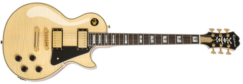 EPIPHONE LTD ED LIMITED EDITION LES PAUL CUSTOM 100TH ANNIVERSARY OUTFIT ELECTRIC GUITAR, NATURAL | Zoso Music
