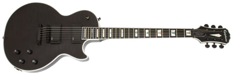 EPIPHONE PROPHECY LES PAUL CUSTOM PLUS EX ELECTRIC GUITAR, ROSEWOOD NECK, MIDNIGHT EBONY | Zoso Music