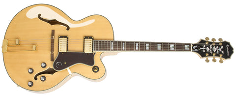 EPIPHONE BROADWAY HOLLOWBODY ELECTRIC GUITAR, ROSEWOOD NECK, NATURAL | Zoso Music