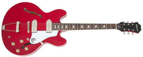 EPIPHONE CASINO HOLLOWBODY ELECTRIC GUITAR, ROSEWOOD NECK, CHERRY | Zoso Music