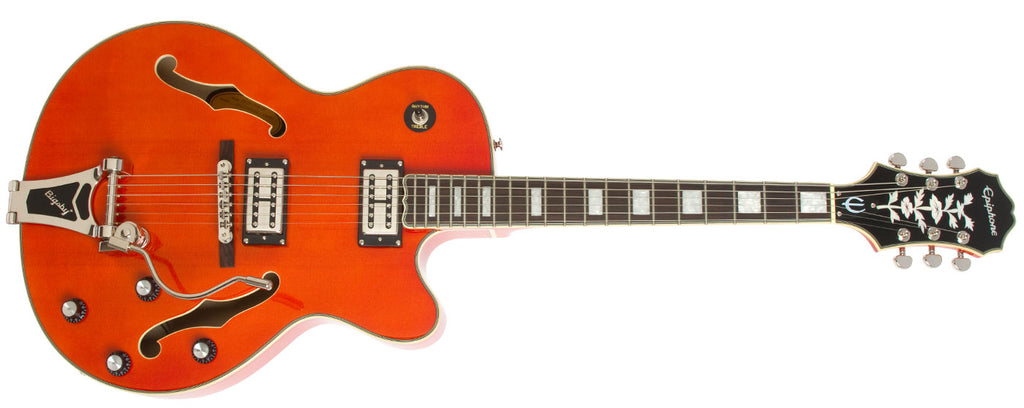 EPIPHONE EMPEROR SWINGSTER HOLLOWBODY ELECTRIC GUITAR, ROSEWOOD NECK, SUNRISE ORANGE | Zoso Music