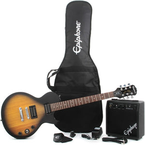 EPIPHONE LES PAUL ELECTRIC GUITAR PLAYER PACK, VINTAGE SUNBURST WITHOUT AMPLIFIER | Zoso Music