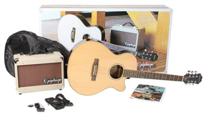 EPIPHONE PR - 4E ACOUSTIC GUITAR PLAYER PACK, UK 240V | Zoso Music