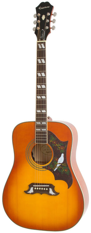 EPIPHONE DOVE PRO ACOUSTIC/ELECTRIC GUITAR, VIOLIN BURST | Zoso Music