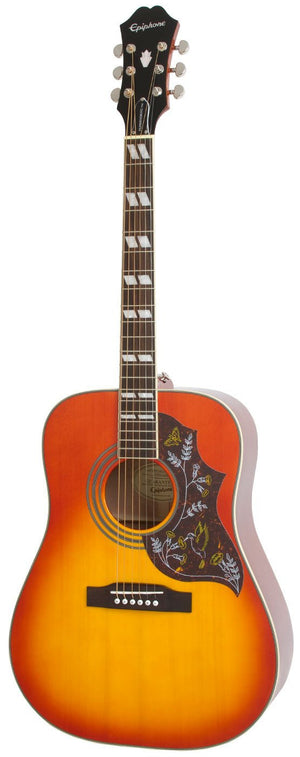 EPIPHONE HUMMINGBIRD PRO, ACOUSTIC/ELECTRIC GUITAR, FADED CHERRY SUNBURST | Zoso Music