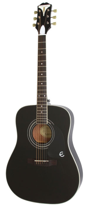 EPIPHONE PRO-1 PLUS EBONY ACOUSTIC GUITAR | Zoso Music