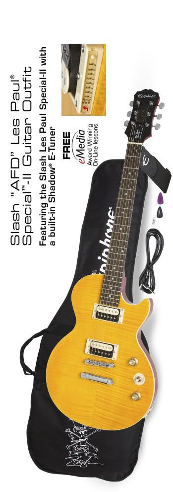 "EPIPHONE SLASH ""AFD"" LES PAUL SPECIAL-II GUITAR OUTFIT ELECTRIC GUITAR"