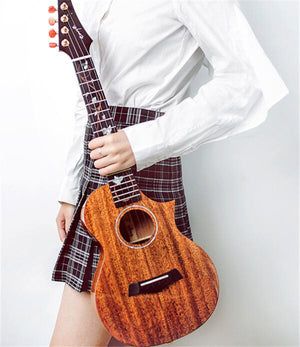 Enya EUT-M6 Tenor solid mahogany ukulele with electric guitar headstock (EUTM6 / EUT M6) | Zoso Music
