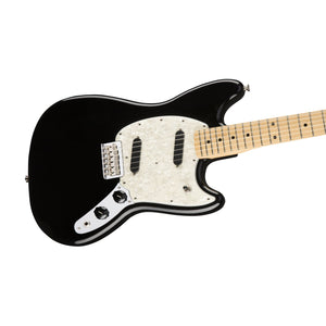 Fender Mustang Electric Guitar, Maple FB, Black