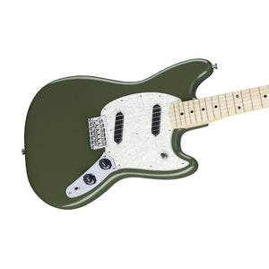 Fender Mustang Electric Guitar, Maple FB, Olive