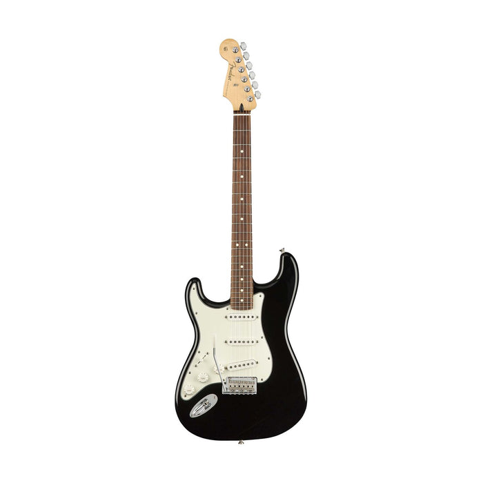 Fender Player Stratocaster Left-Handed Electric Guitar, Pau Ferro FB, Black