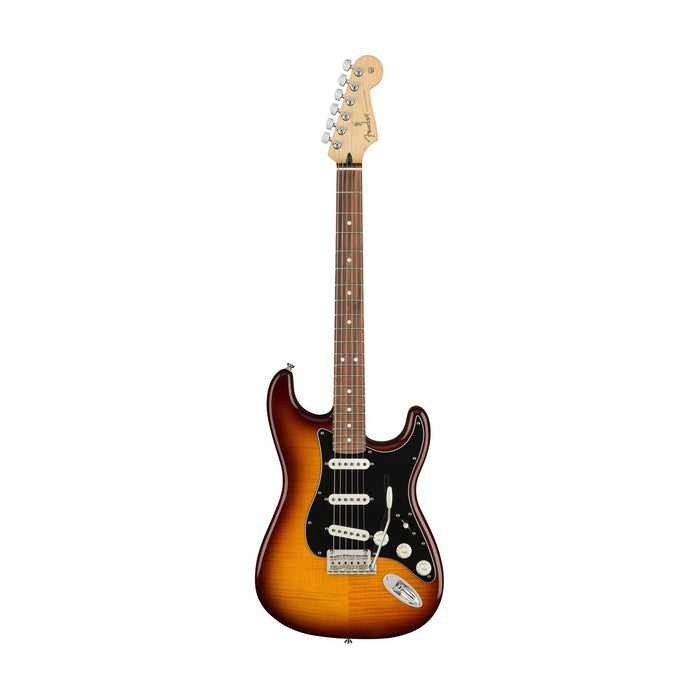 Fender Player Plus Top Stratocaster Electric Guitar, Pau Ferro FB, Tobacco Sunburst