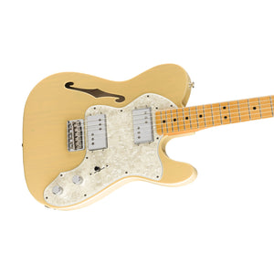 Fender Vintera 70s Telecaster Thinline Electric Guitar, Vintage Blonde