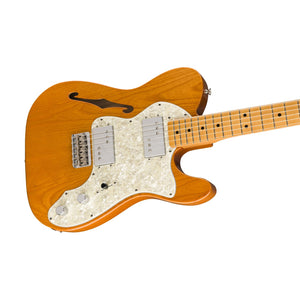 Fender Vintera 70s Telecaster Thinline Electric Guitar, Aged Natural
