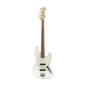 Fender Player Jazz Bass Fretless Bass Guitar. Pau Ferro FB, Polar White