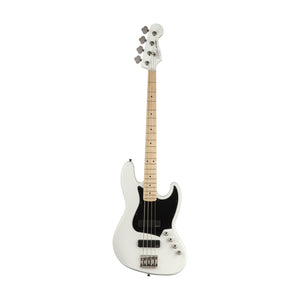 Squier Contemporary Active Jazz Bass HH Guitar, Maple FB, Flat White