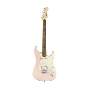 Squier Bullet Stratocaster HSS Hardtail Electric Guitar, Laurel FB, Shell Pink