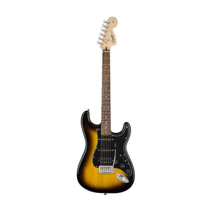 Squier Affinity Series Hss Stratocaster Guitar Pack W/gig Bag & Frontman 15g Amplifier, Brown Sunburst