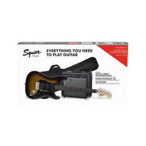 Squier Affinity Series Hss Stratocaster Guitar Pack, Brown Sunburst Color